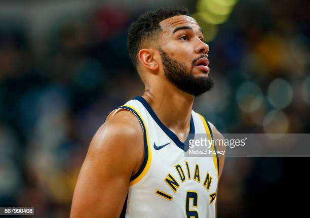 Cory Joseph of the Indiana Pacers is seen during the game against the San Antonio Spurs at Bankers Life Fieldhouse on October 29 2017 in Indianapolis...