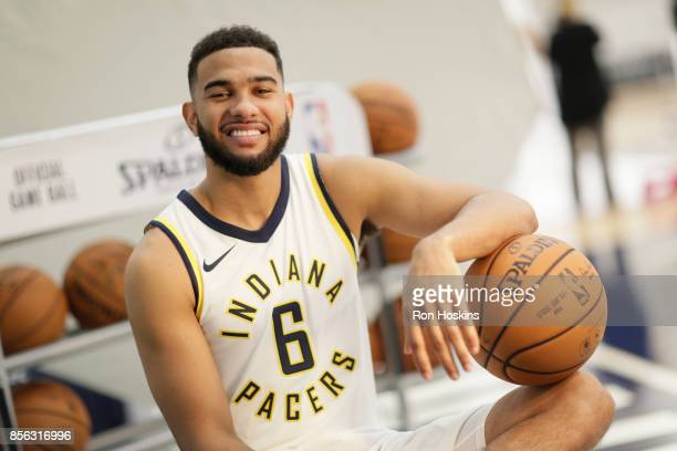 Cory Joseph of the Indiana Pacers poses for a portrait during the Pacers Media Day at Bankers Life Fieldhouse on September 25 2017 in Indianapolis...