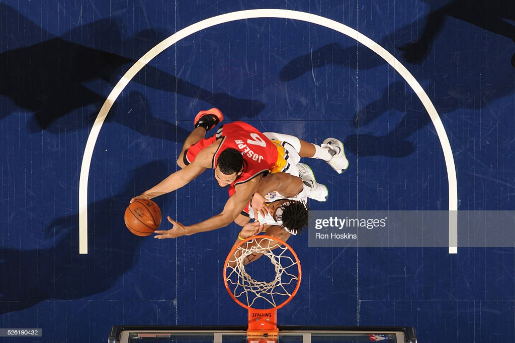 Cory Joseph #6 of the Toronto Raptors shoots the ball against the Indiana Pacers in Game Six of the Eastern Conference Quarterfinals during the 2016 NBA Playoffs on April 29, 2016 at Bankers Life Fieldhouse in Indianapolis, Indiana.
