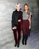 Cory Kennedy and Charlotte Ronson pose for a picture during Charlotte Ronson Front Row Backstage MercedesBenz Fashion Week Fall 2015 at The Salon at...