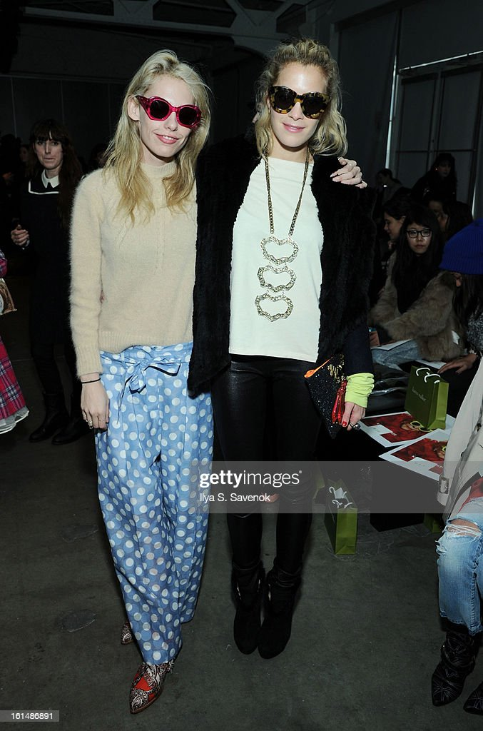 Cory Kennedy and Chelsea Leyland attends the Karen Walker fall 2013 fashion show during Mercedes-Benz FAshion Week at Pier 59 on February 11, 2013 in New York City.