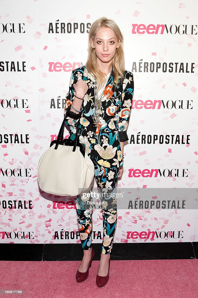 Cory Kennedy attends the Teen Vogue 10th Anniversary and Chloe Grace Moretz Sweet 16 Celebration at Aeropostale Times Square on February 7, 2013 in New York City.
