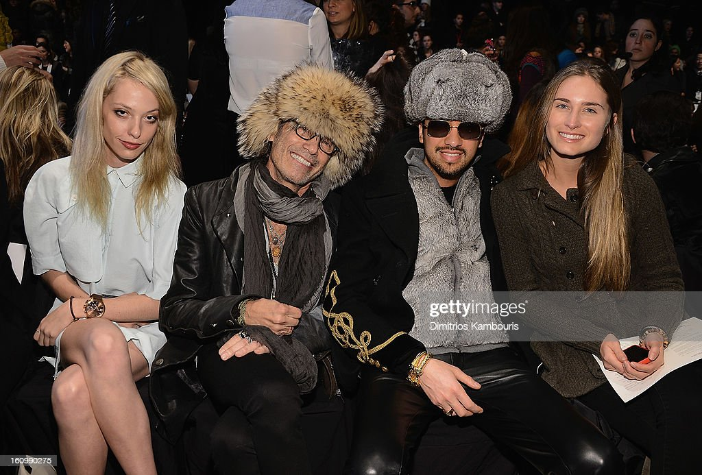 Cory Kennedy, Johnny Podell, DJ CAssidy and Lauren Bush attend Rebecca Minkoff during Fall 2013 Mercedes-Benz Fashion Week at The Theatre at Lincoln Center on February 8, 2013 in New York City.