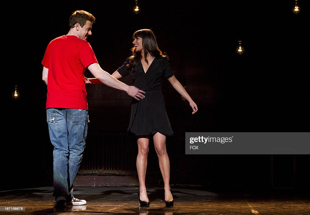 Cory Monteith as 'Finn' and Lea Michele as 'Rachel' in the 'Sweet Dreams' episode of GLEE airing Thursday, April 18, 2013 (9:00-10:00 PM ET/PT) on FOX.