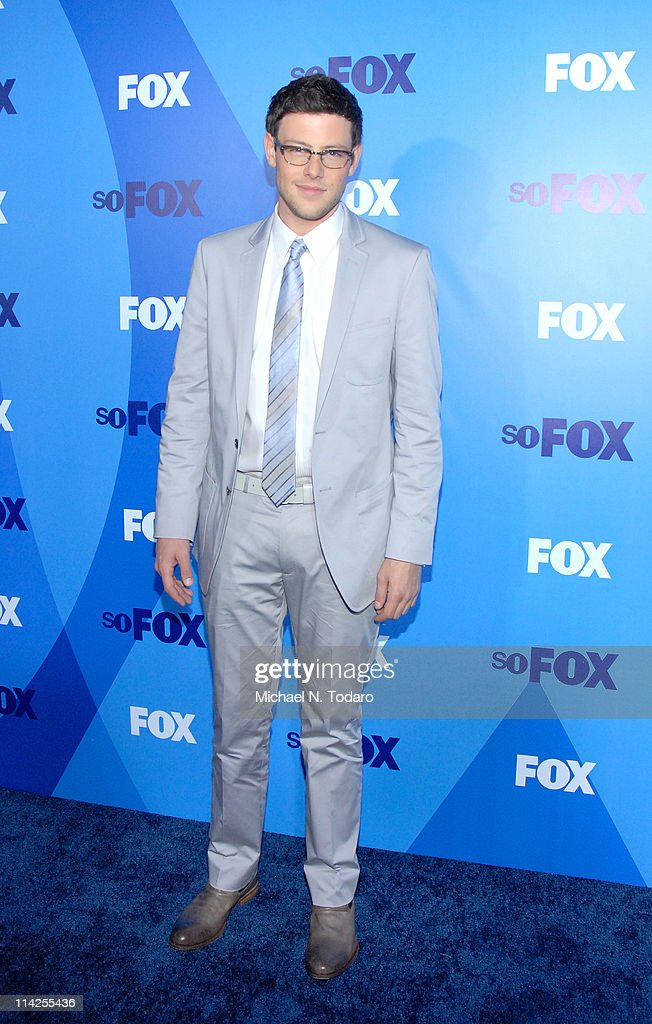 <a gi-track='captionPersonalityLinkClicked' href=/galleries/search?phrase=Cory+Monteith&family=editorial&specificpeople=4491048 ng-click='$event.stopPropagation()'>Cory Monteith</a> attends the 2011 Fox Upfront at Wollman Rink - Central Park on May 16, 2011 in New York City.