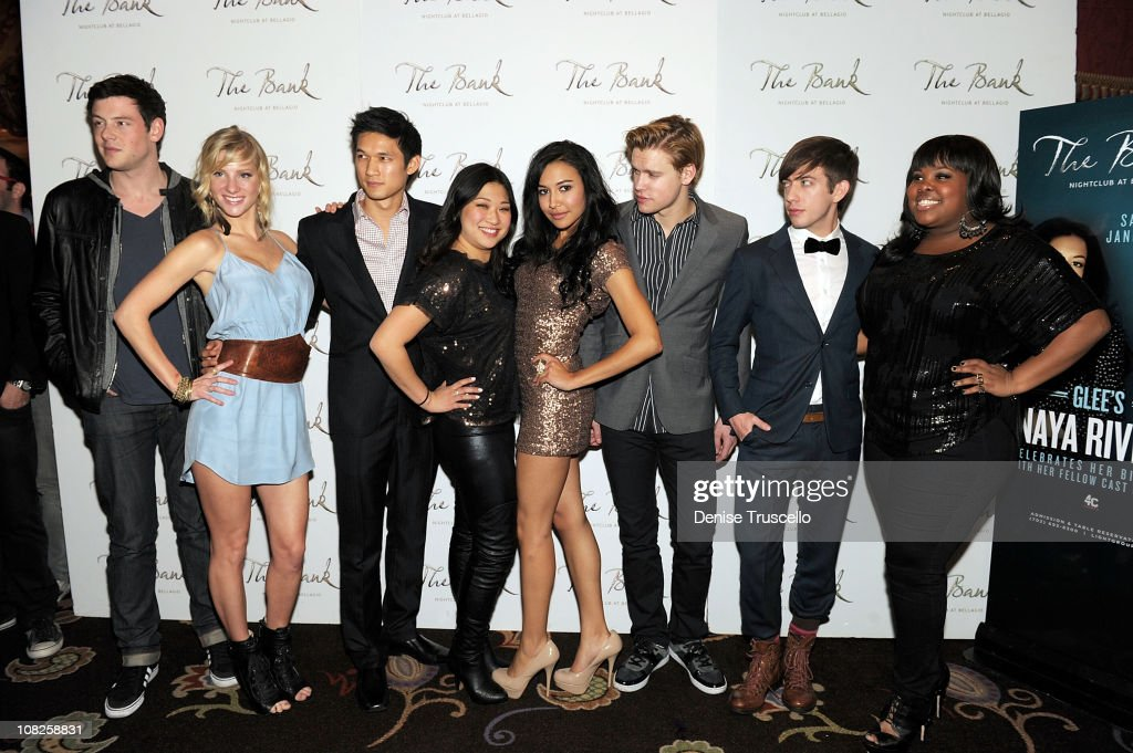 Naya Rivera Celebrates Her Birthday At The Bank Nightclub At The Bellagio With Fellow Glee Cast Members