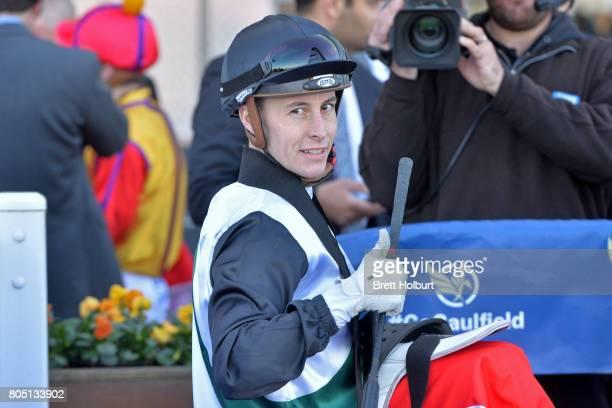 Cory Parish after winning Tile Importer Handicap at Caulfield Racecourse on July 01 2017 in Caulfield Australia