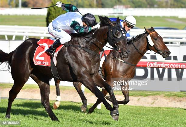 Cory Parish riding All out of Love wins Race 7 during Melbourne Racing at Caulfield Racecourse on May 13 2017 in Melbourne Australia