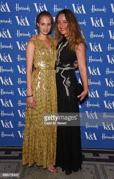 Cosima Auermann and Alice Temperley attend the 2017 annual VA Summer Party in partnership with Harrods at the Victoria and Albert Museum on June 21...