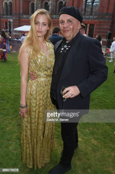 Cosima Auermann and Sascha Lilic attend the 2017 annual VA Summer Party in partnership with Harrods at the Victoria and Albert Museum on June 21 2017...