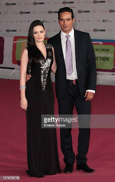 Cosima Coppola and Gabriel Garko attend the 'Viso D' Angelo' Premiere during the 2011 Rome Fiction Fest at Auditorium Parco Della Musica on September...