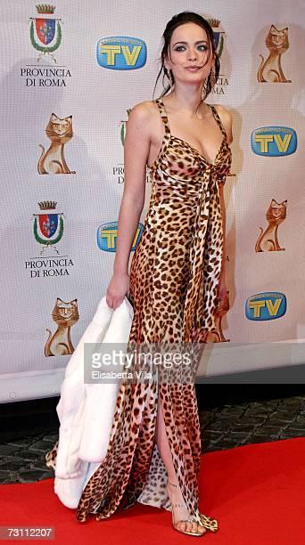 Cosima Coppola arrives at the Italian TV Awards 'Telegatti' at the Auditorium Conciliazione on January 25 2007 in Rome Italy