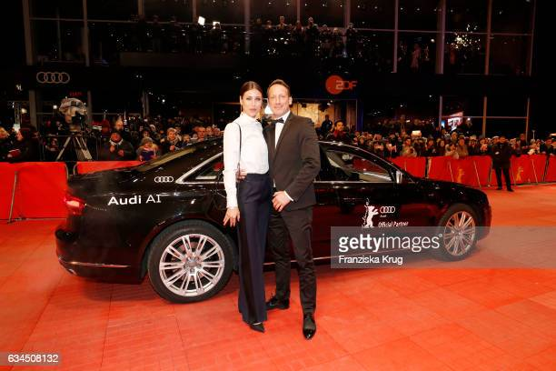 Cosima Lohse and Wotan Wilke Moehring attend the 'Django' premiere during the 67th Berlinale International Film Festival Berlin at Berlinale Palace...
