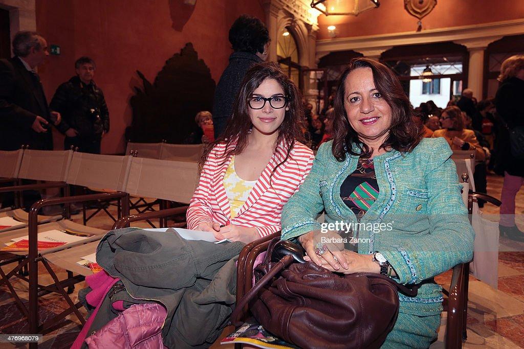 Cosima Ramirez and Awatef Berdai attend the opening of 'DoVe' Donne a Venezia at Palazzo Mocenigo on March 6, 2014 in Venice, Italy.