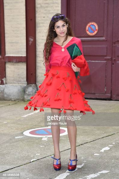 Cosima Ramirez arrives to attend the Maison Martin Margiela show as part of Paris Fashion Week Haute Couture Fall/Winter 20142015 on July 9 2014 in...