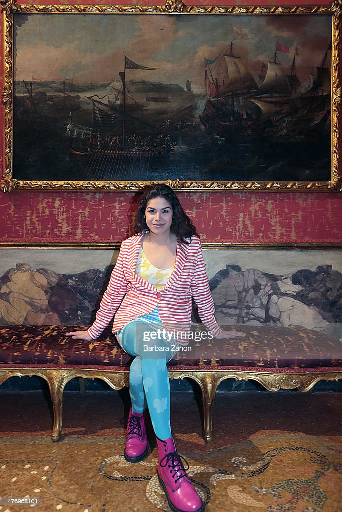 Cosima Ramirez visits the museum of Palazzo Mocenigo during the opening of 'DoVe' Donne a Venezia at Palazzo Mocenigo on March 6, 2014 in Venice, Italy.