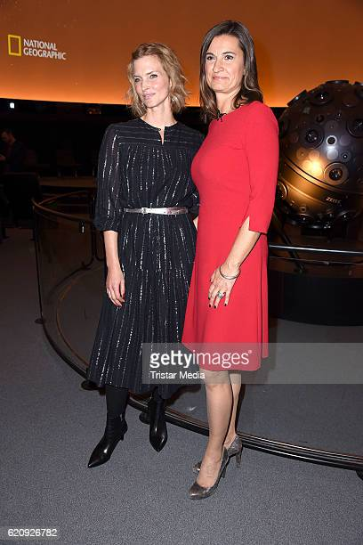Cosima Shaw and Inka Schneider attend the NatGeo Series 'Mars' Premiere on November 3 2016 in Berlin Germany
