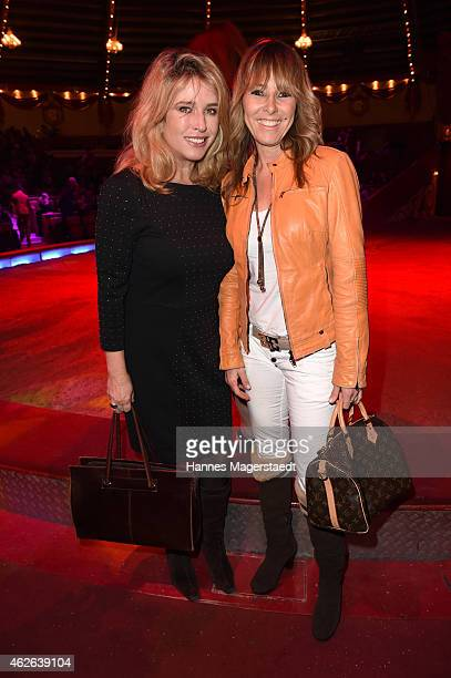 Cosima von Borsody and Gundis Zambo attend the 'Wunderwelt der Manege' Circus Krone Premiere on February 1 2015 in Munich Germany