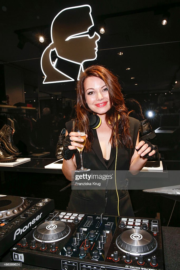 Cosma Shiva Hagen alias Djane Cosmic Sista attends the Karl Lagerfeld Men's Store Opening on September 03 2015 in Berlin Germany