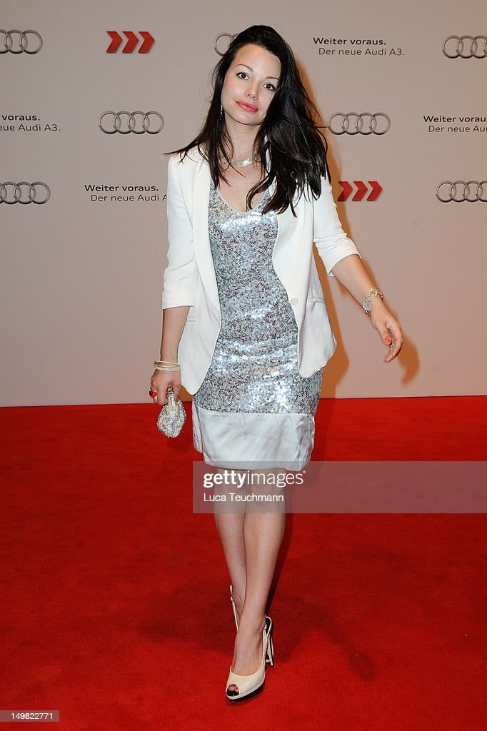 Cosma Shiva Hagen attends the Audi A3 Launch at former Tempelhof Airport on August 4 2012 in Berlin Germany