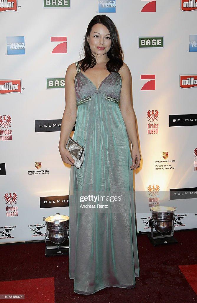 Cosma Shiva Hagen attends the 'Movie meets Media' Night at Hotel Atlantic on December 3 2010 in Hamburg Germany
