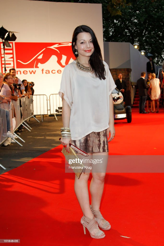 Cosma Shiva Hagen attends the red carpet for the New Faces Award Fashion 2012 at Rheinterrasse on July 28 2012 in Duesseldorf Germany