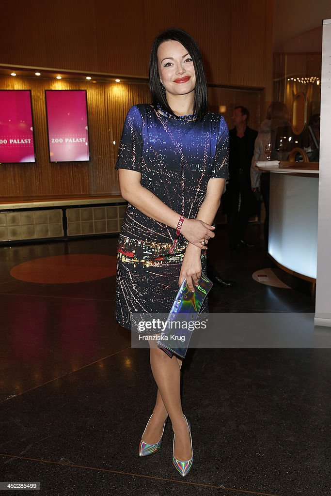 Cosma Shiva Hagen attends the Zoo Palast Reopening at Zoo Palast on November 27 2013 in Berlin Germany