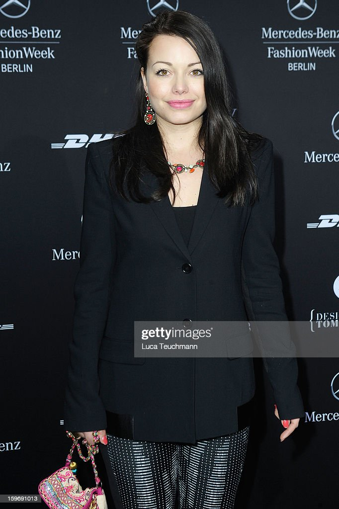 Cosma-Shiva Hagen attends Miranda Konstantinidou Autumn/Winter 2013/14 fashion show during Mercedes-Benz Fashion Week Berlin at Brandenburg Gate on January 18, 2013 in Berlin, Germany.