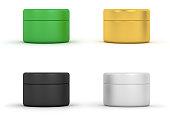 Cosmetic Cream Jars. Digitally Generated Image isolated on white background