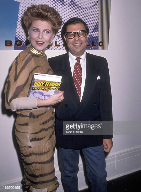 Cosmetic entrepreneur Georgette Mosbacher and writer Bob Colacello attend the Party to Celebrate Bob Colacello's Book 'Holy Terror Andy Warhol Close...