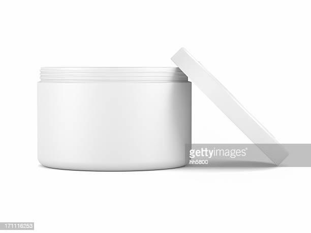 Pot de crème cosmétique visage