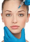 Kosmetische Injektion von botox