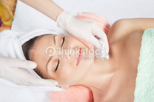 cosmetic treatment at spa salon : Stock Photo