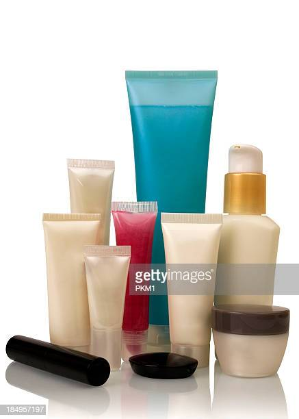Cosmetics bottles (with clipping path)