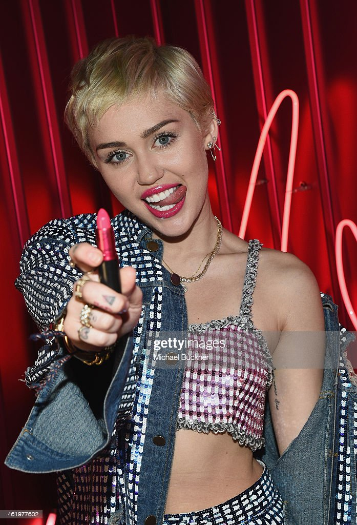 Cosmetics launches VIVA GLAM Miley Cyrus on January 21 2015 in Los Angeles California