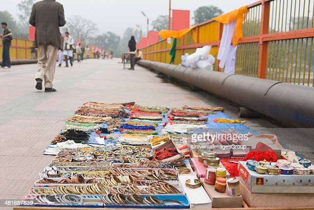 Cosmetics products at a street market Haridwar Uttarakhand India