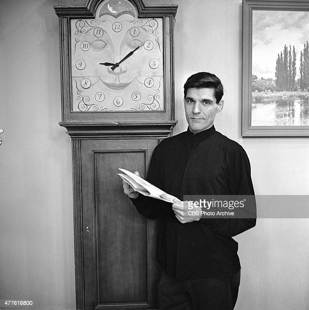 Cosmo Allegretti master puppeteer for the CAPTAIN KANGAROO show with his creation Grandfather Clock Image dated December 22 1959