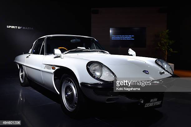 Cosmo sports of Mazda is displayed during the Tokyo Motor Show 2015 at Tokyo Big Sight on October 28 2015 in Tokyo Japan