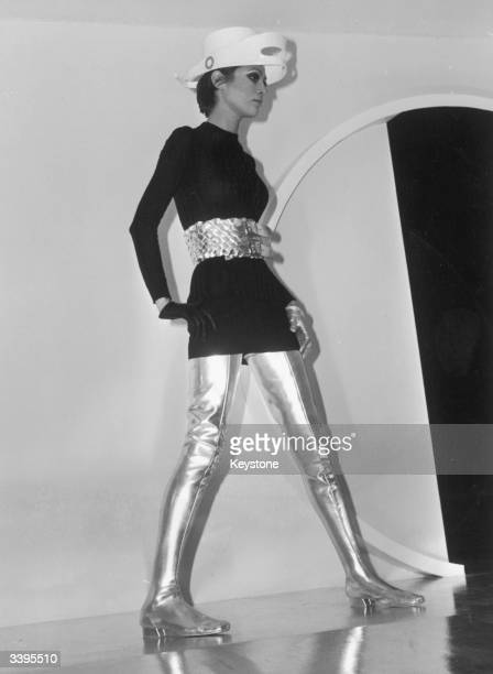 A Cosmocorps model wearing an outfit from the latest Pierre Cardin collection 26th January 1968