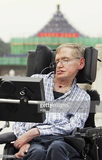 Cosmologist Stephen Hawking visits the Temple of Heaven on June 18 in Beijing China Hawking has arrived in Beijing prior to his lecture at the Great...