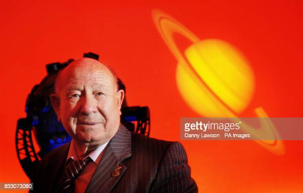 Cosmonaut Alexei Leonov poses for a photograph in the planetarium at Glasgow's Science Centre during the launch of Careers Scotland's festival of...