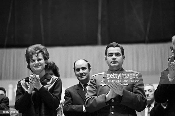 Cosmonauts Andrian Nikolayev And Valentina Tereshkova In France In Paris