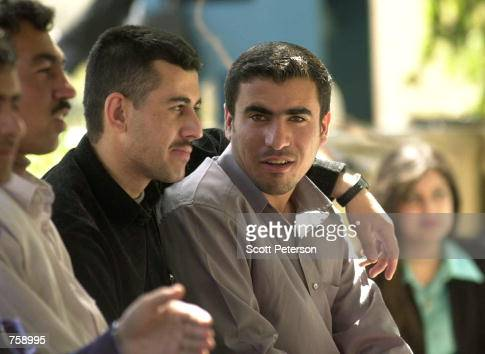 Cosmopolitan and urbane Kurdish students take a break between classes at Suleimaniyeh University March 26 2002 in Suleimaniyah Iraq Suleimaniyah is...