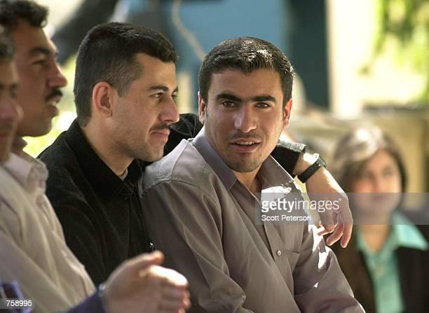 Cosmopolitan and urbane Kurdish students take a break between classes at Suleimaniyeh University March 26 2002 in Suleimaniyah Iraq Suleimaniyah is...