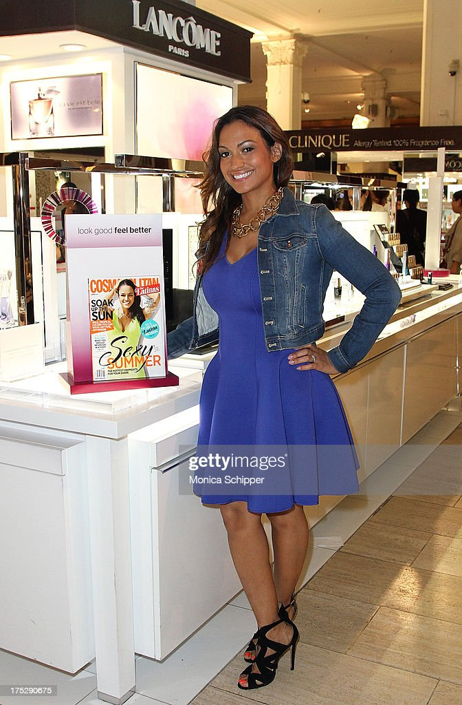 Cosmopolitan for Latinas beauty editor, Milly Almodovar, attends Second Annual Beauty Editors Day At Saks Fifth Avenue on August 1, 2013 in New York City.