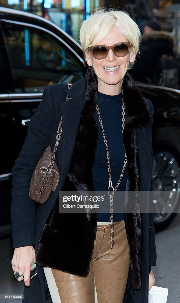 Cosmopolitan Magazine Editor-in-Chief <a gi-track='captionPersonalityLinkClicked' href=/galleries/search?phrase=Joanna+Coles&family=editorial&specificpeople=4060670 ng-click='$event.stopPropagation()'>Joanna Coles</a> attends the Calvin Klein Collection 2013 Mercedes-Benz Fashion Show at 205 West 39th Street on February 14, 2013 in New York City.
