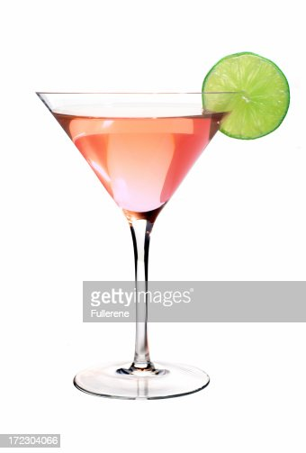 Cosmopolitan with Lime : Stock Photo