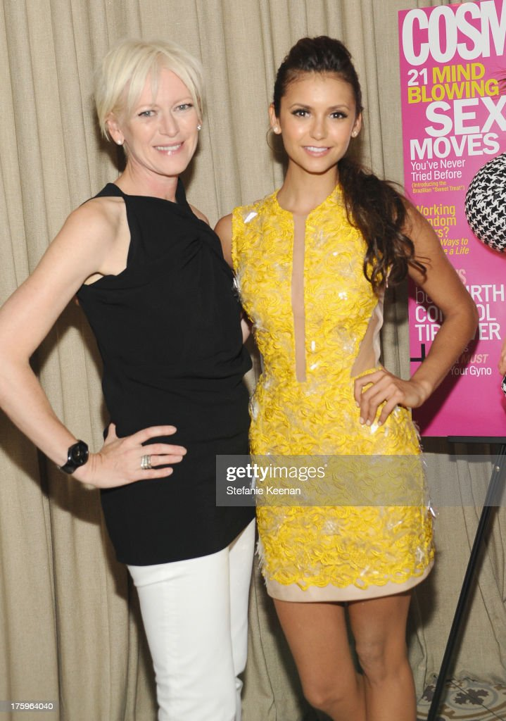 Cosmopolitan's EditorInChief Joanna Coles and actress Nina Dobrev attend Cosmopolitan's Summer Bash at Palihouse on August 10 2013 in West Hollywood...