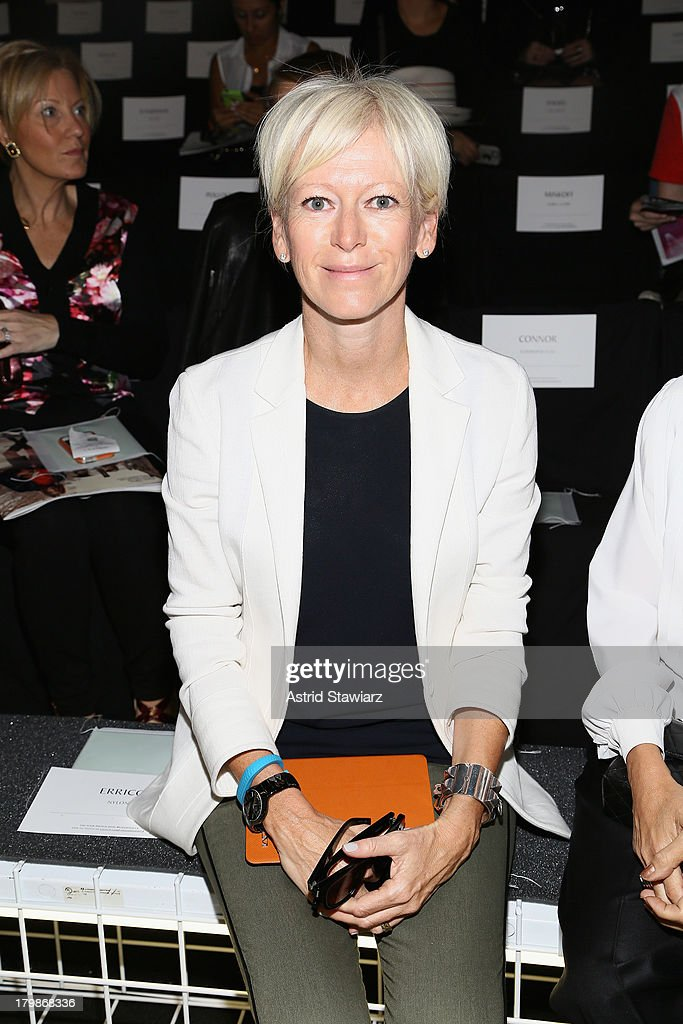 Cosmopolitan's EditorInChief Joanna Coles attends the Lacoste fashion show during MercedesBenz Fashion Week Spring 2014 at The Theatre at Lincoln...
