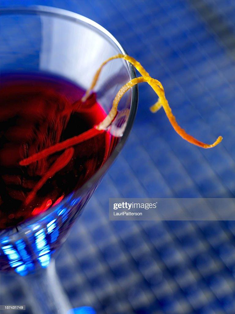 Cosmopolitian Martini with Orange Zest : Stock Photo